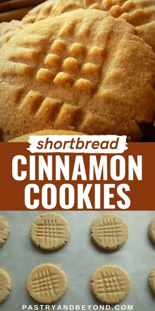 Easy cinnamon shortbread cookies.