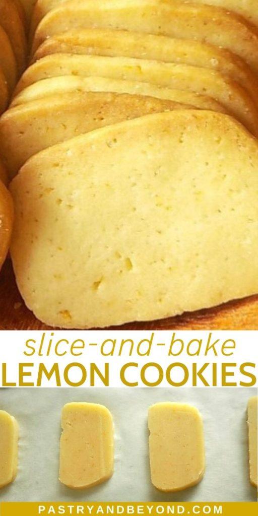 Pin of slice and bake lemon cookies