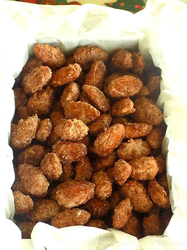 Candied Almonds in a gift box.