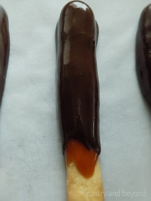 Caramel and Chocolate Sticks
