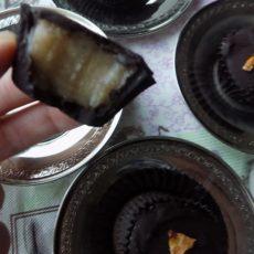 2 Ingredient Frozen Chocolate Banana Cups