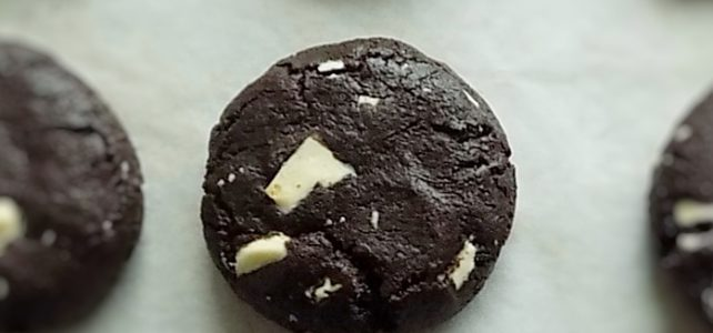 Moist Chocolate Cookies with White Chocolate Chunks