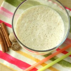 Banana Smoothie with Nutmeg & Cinnamon