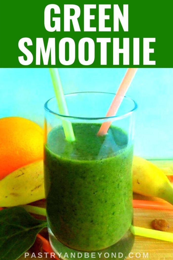 Pin for green smoothie