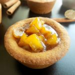 Caramelized Apple Filled Cinnamon Cookie Cups