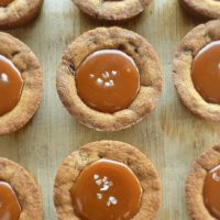 Salted Caramel Chocolate Chip Cookie Cups
