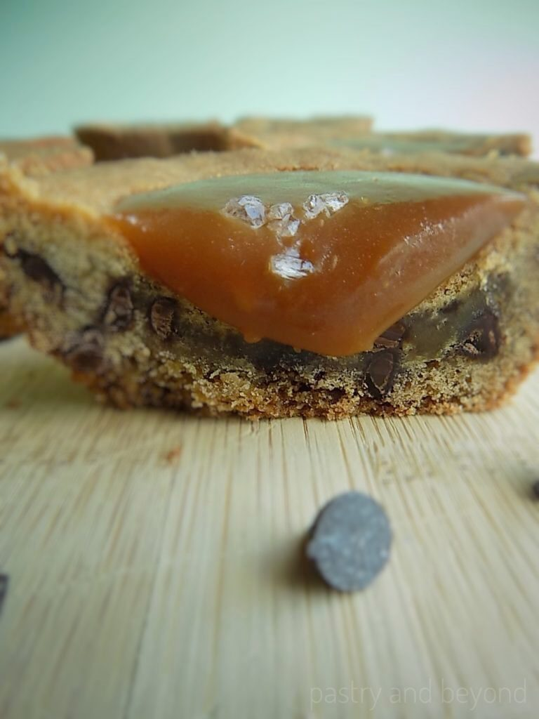 Chocolate Chip Cookie Cup with Salted Caramel