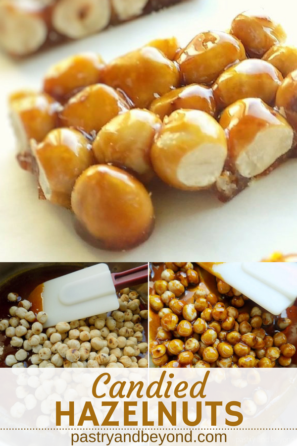 Collage for candied hazelnuts.