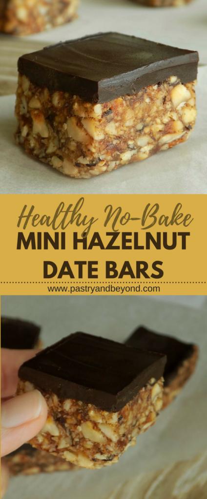 Healthy No Bake Mini Date Nut Bars