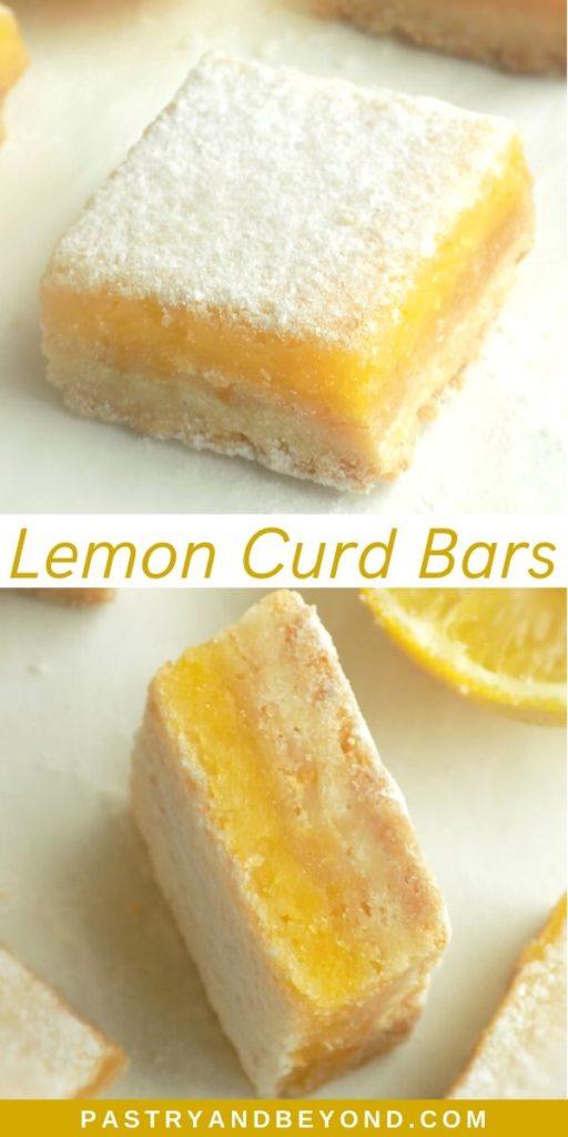 Pin of Lemon Curd Bars