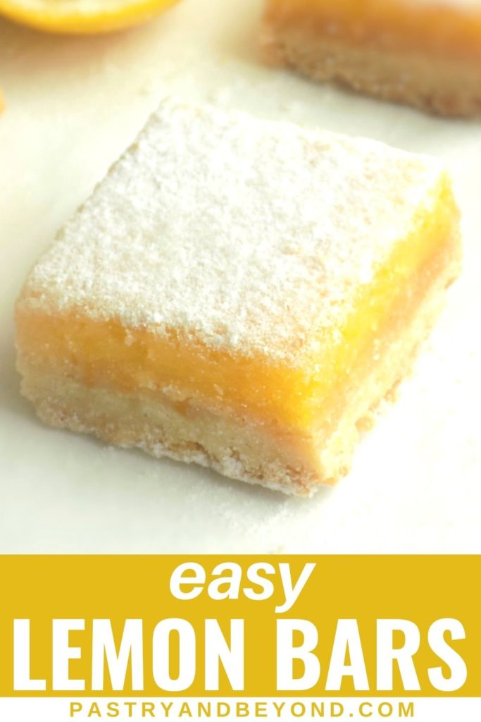 Lemon curd bar with text overlay