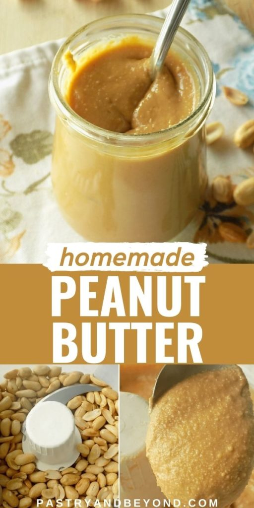 Homemade peanut butter.