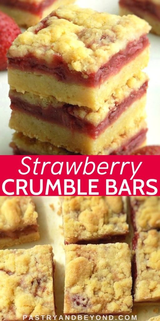 Pin for strawberry crumble bars