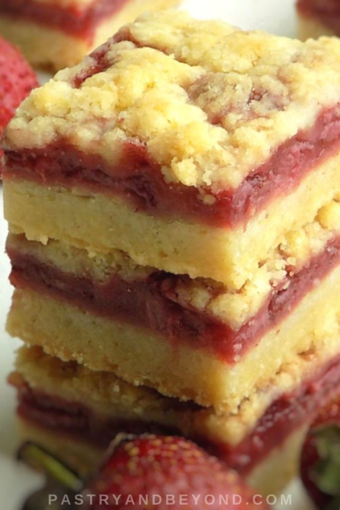 Pin of Stacked Strawberry Bars