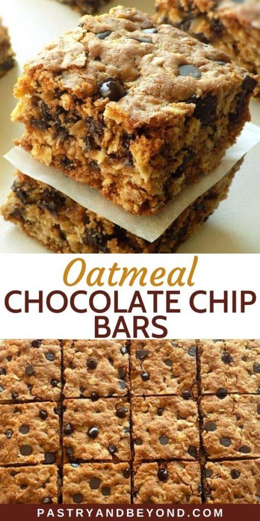Oatmeal Chocolate Chip Bars pin