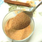 Cinnamon Sugar on a spoon and the rest in a small bowl.