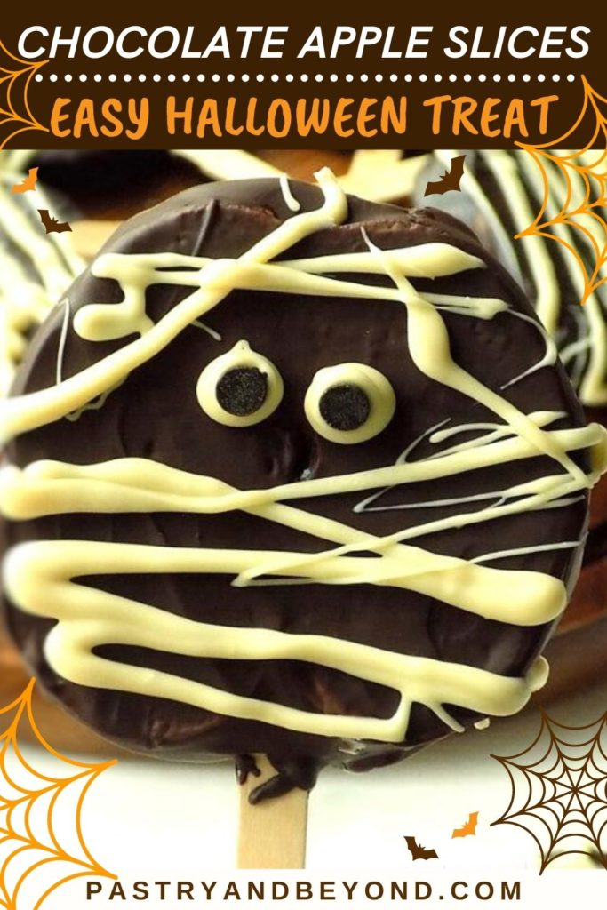 Pin for chocolate covered apple slices