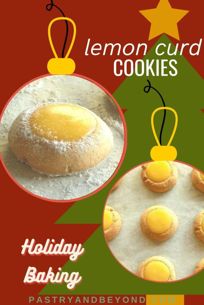 Pin for lemon curd thumbprint cookies