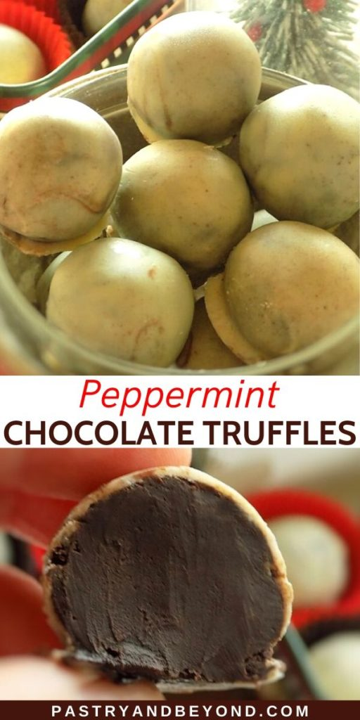 Pin for peppermint chocolate truffles