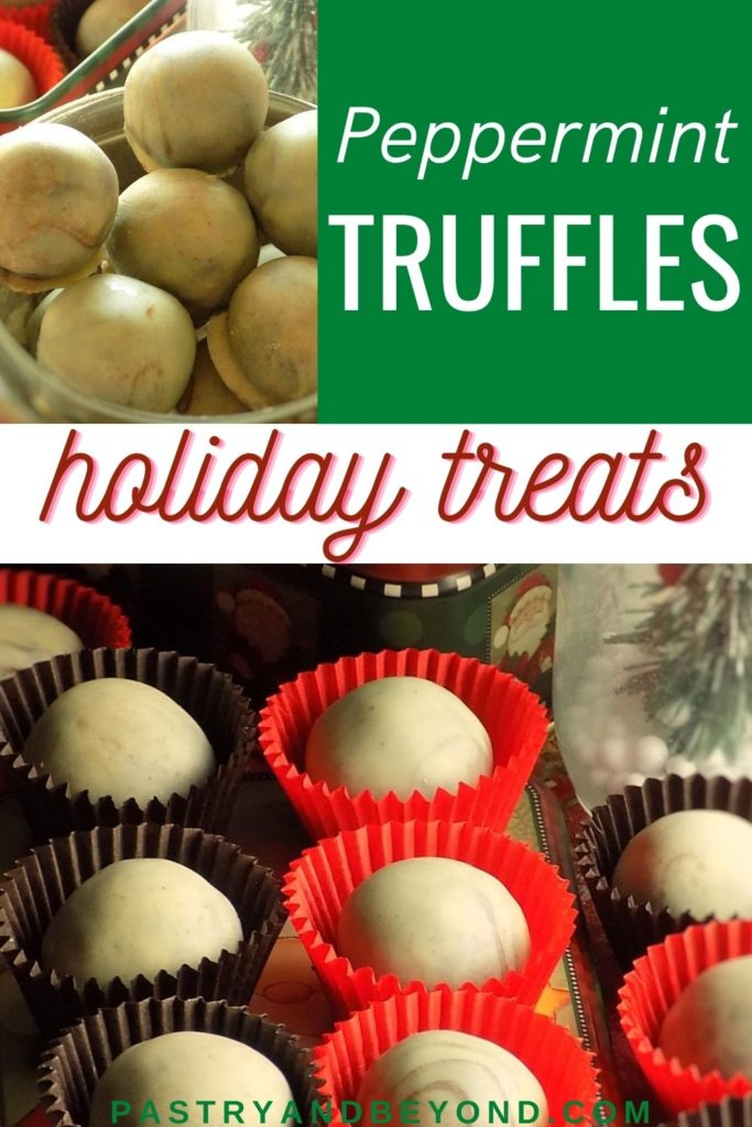 Pin for peppermint truffles