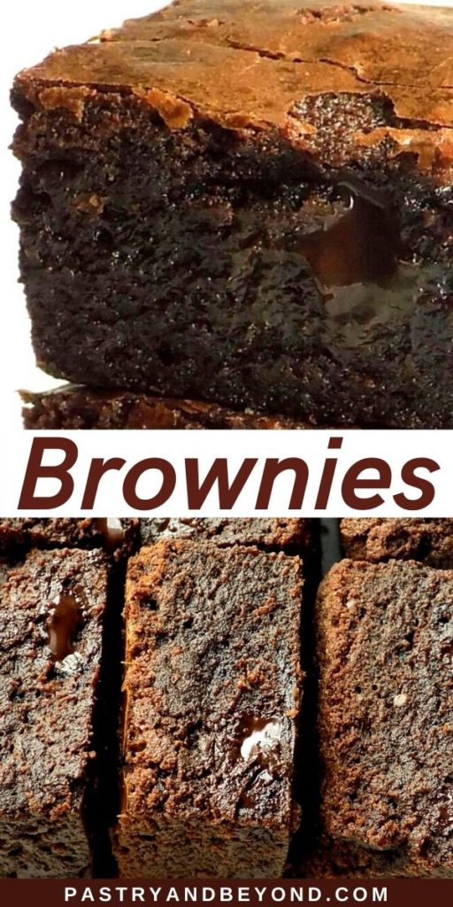 Pin for Brownies to show how fudgy they are.
