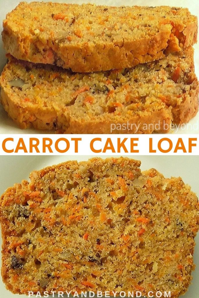 Slices of carrot cake bread.