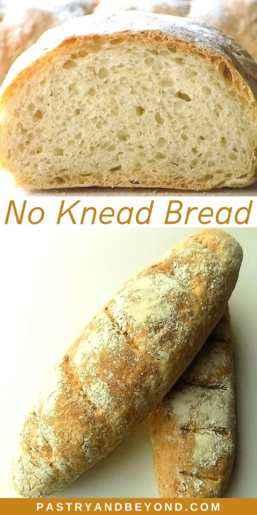 No knead loaf bread pin