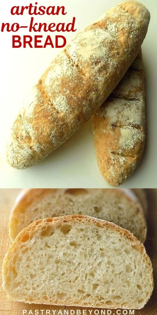 Homemade bread loaves.