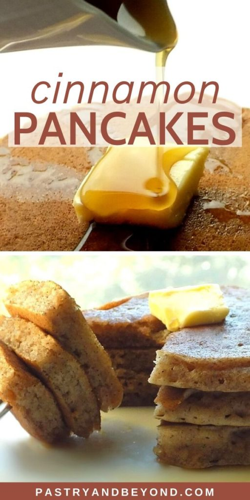 Pin for Cinnamon Sugar Pancakes