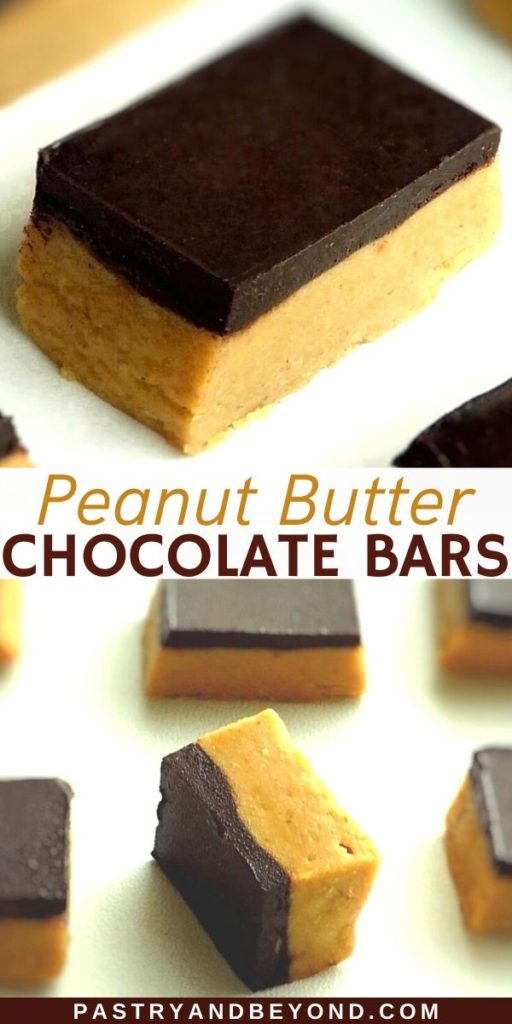 Pin for chocolate peanut butter bars
