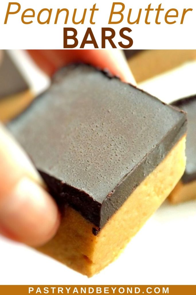 Pin for peanut butter chocolate bars