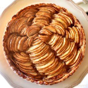 Overhead view of easy apple tart recipe.