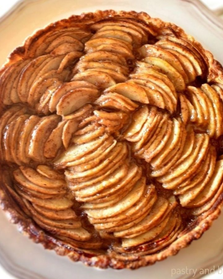 Overhead view of easy apple tart recipe.